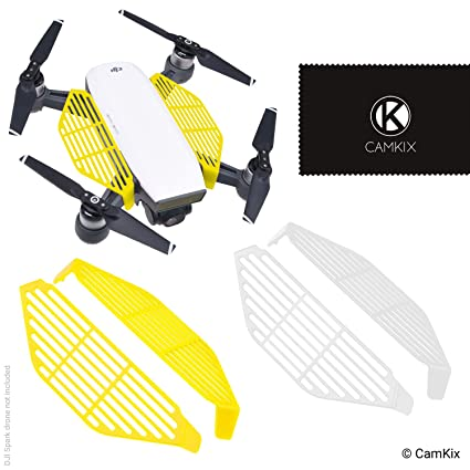 CamKix Finger Guards Compatible with DJI Spark - 2 Pair Set (2X Yellow and  2X White) - Hand Catch Safety Shields - Protects Hands/Fingers from