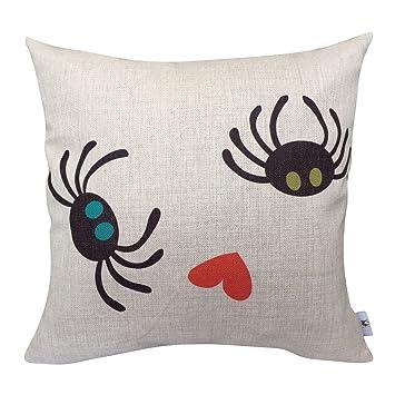 YOYOU Decorativa Fundas de Almohada, diseño de arañas Patio ...