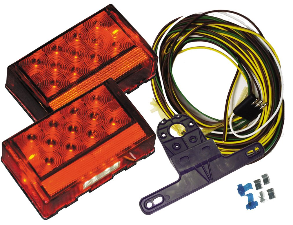 Jammy Boat Trailer LED Light Kit for Over 80'' Wide Marine Trailers by Jammy
