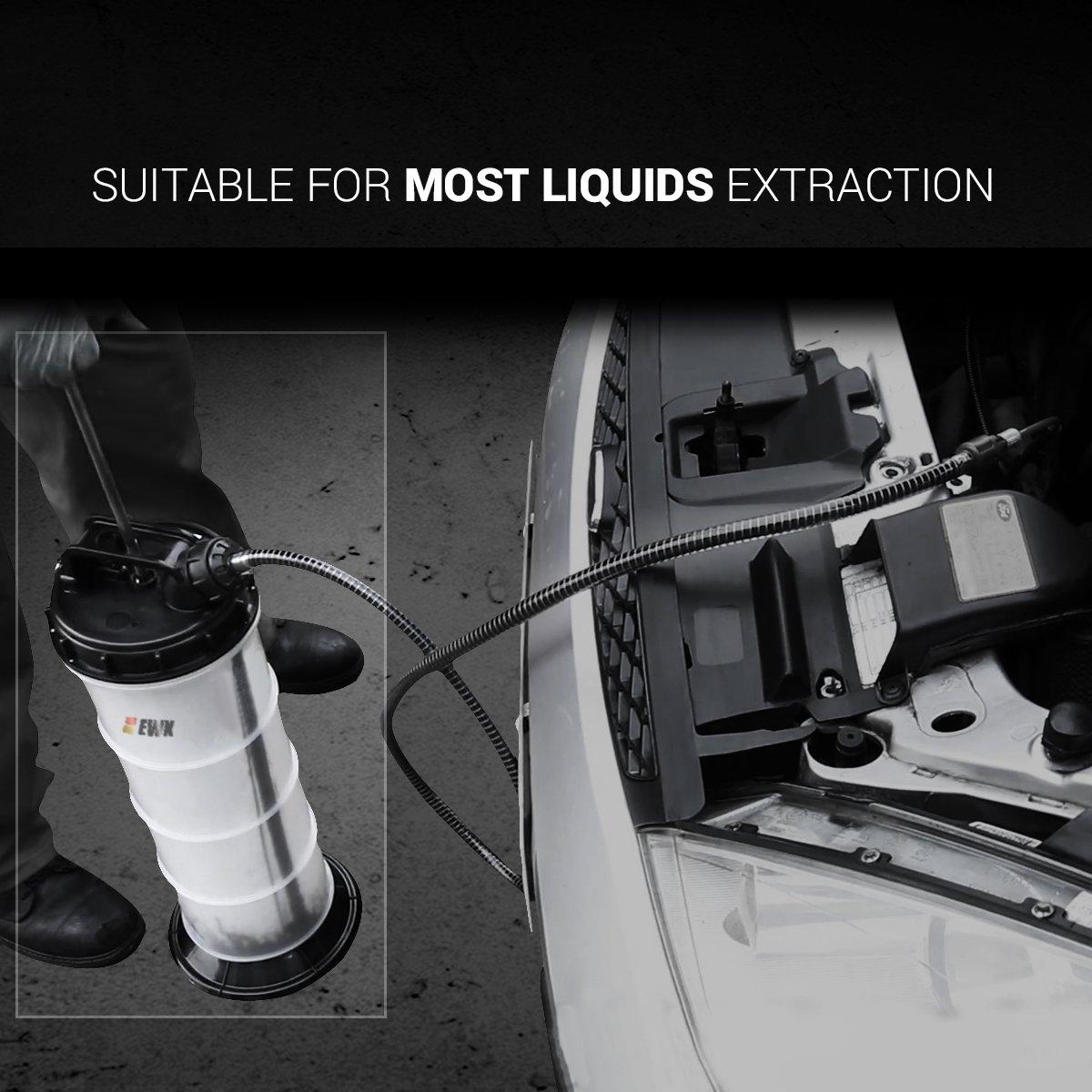 EWK 7.5 Liter Manual Oil Pump Extractor Fluid Evacuator For DIY Oil Change by EWK (Image #3)