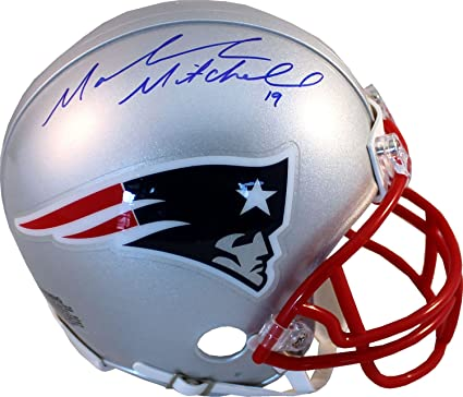 06ba7860 Amazon.com: Malcolm Mitchell Autographed New England Patriots Mini ...