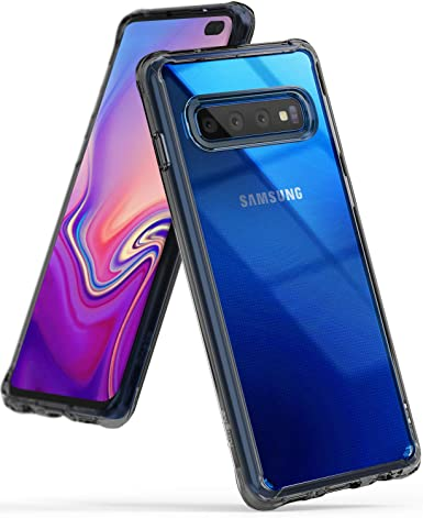 Ringke Fusion Designed for Galaxy S10 Plus Case Crystal PC Back Perfect Ceramic Body Fit Drop Protective Cover for Galaxy S10 Plus (6.4