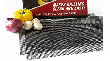 Grillmatte Backmatte für Grillrost  Gasgrill Holzkohlengrill 36 x 42cm