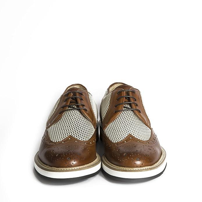 ca93d204ca01 Scarpe stringate uomo in pelle modello all'inglese di colore cuoio con  gomma bicolore scarpe artigianali uomo italiane calzature fatte a mano Made  in Iitaly ...