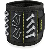 Magnetic Wristband, Kusonkey 15 Magnets Magnetic Wrist Band with 3×5 Strong Magnets for Holding Screws,Nails,Drill Bits Holding Tools,Screws,Nails,Bolts, Drill Bits and Small Tools,Nails and Screws