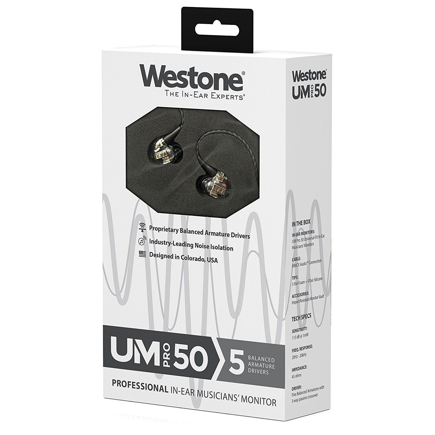 Westone Um Pro 50 Five Driver Universal Fit In Ear Car Stereo Wiring Harness At Sonic Electronix Share The Knownledge Musicians Monitors With Removable Mmcx Audio Cable Electronics