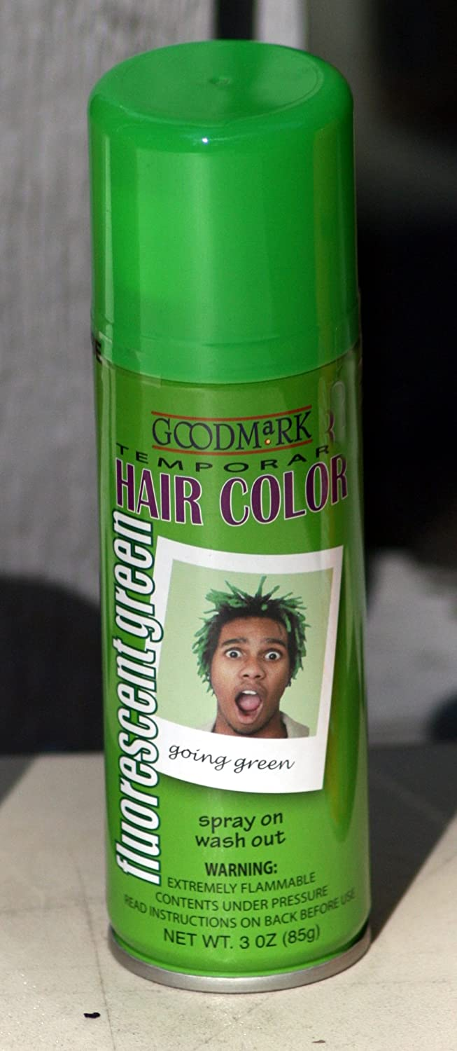 Amazon Spray On Wash Out Green Hair Color Temporary Hairspray