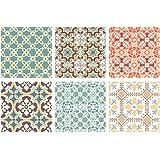 SUPVOX 10 Unids Adhesivo Mosaico backsplash Azulejos Pegatinas para Cocina y baño Pegatinas de Pared decoración del hogar
