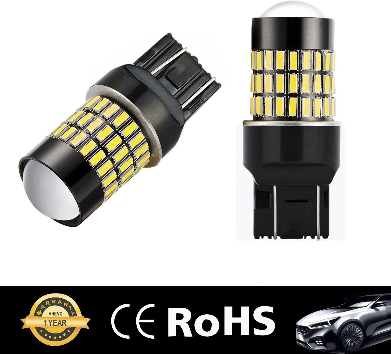 AHEVO 2 x 1200Lumens Super Bright 72-PL Chipsets 3056 3156 3057 3157 4057 4157 LED Bulbs Used For Back Up Reverse Lights,Brake Lights,Tail Lights,Xenon White