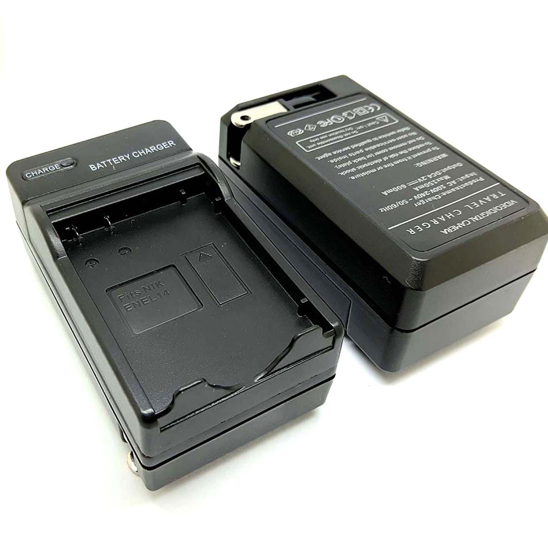 Wall Battery Charger for Nikon EN-EL14 D3100,D3200,D3300,D5100,D5200,D5300,D5500 D5600 Df DSLR, Coolpix P7000,P7100,P7700,P7800 Cameras EL14 PINGSX