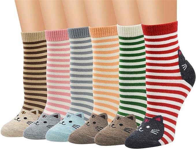 TMEOG Calcetines Mujer, calcetines de algodón calcetines térmicos Adulto Unisex Calcetines (A): Amazon.es: Ropa y accesorios