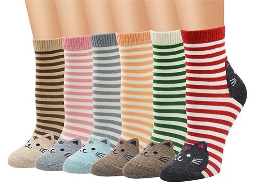 TMEOG Calcetines Mujer, calcetines de algodón calcetines térmicos Adulto Unisex Calcetines (A)