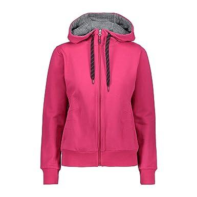Jacket Jacke Elastisch Cmp Fix Hood Woman Pink Sweatjacke CodxeBr