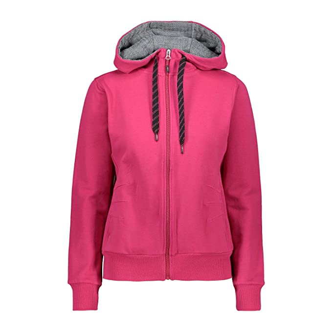 CMP Sweatjacke Jacke GIRL JACKET FIX HOOD grau elastisch wärmend
