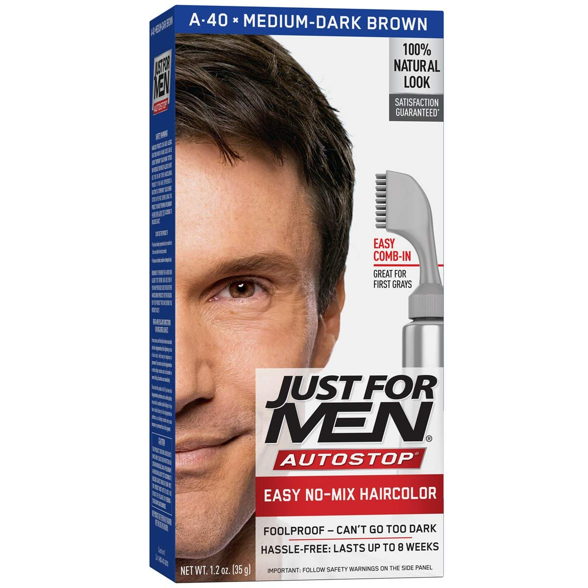 Just For Men AutoStop Men's Hair Color, Medium-Dark Brown