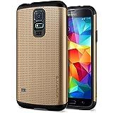 Spigen SGP10754 - Funda para Samsung Galaxy S5, Dorado/Negro