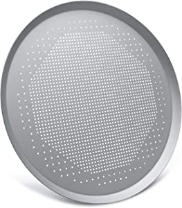 Pizza Pan 16 Inch, Beasea Pizza Pan for Oven Aluminum Alloy Round Pizza Tray Pizza Crisper Pan with Holes Pizza Baking Tray Bakeware for Home Restaurant Kitchen