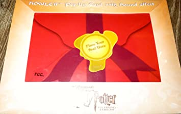 Wizarding World Of Harry Potter Howler Pop Up Card With Recordable Sound Effect By Universal Studios