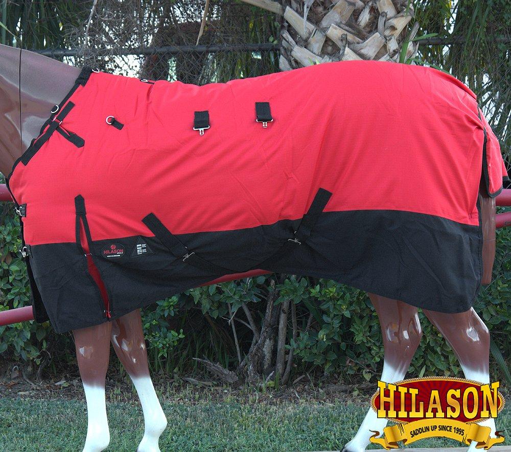 HILASON 78インチ 1200D リップストップ 防水 ターンアウト 冬用 馬用シート ブラック ホワイト B07KPLTY2C
