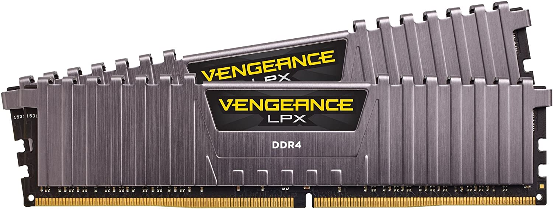 Corsair VENGEANCE LPX 16GB (2 x 8GB) DDR4 3000 (PC4-24000) C15 1.35V Desktop Memory Kit - Grey