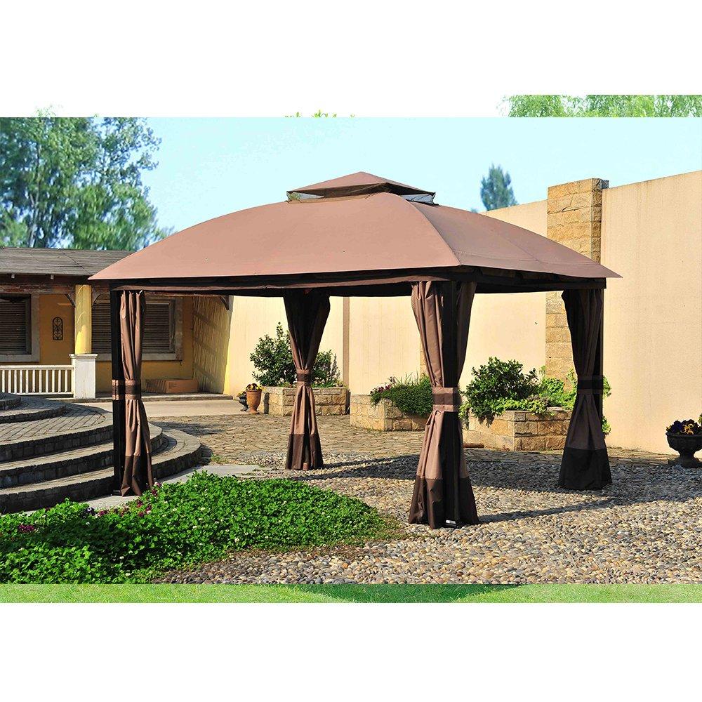 Sunjoy Replacement Canopy Set for 11x13ft South Hampton Gazebo