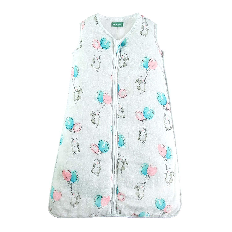 molis&co Saco de Dormir para bebé de Muselina Premium. Súper Suave y Ligero. Estampado
