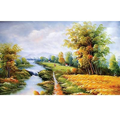 Adults Puzzles 1000 Piece Puzzle Game, Autumn Country River Landscape Puzzzle for Teenagers and Adults Puzzle Unique Entertainment Home Decorations and Gifts: Toys & Games