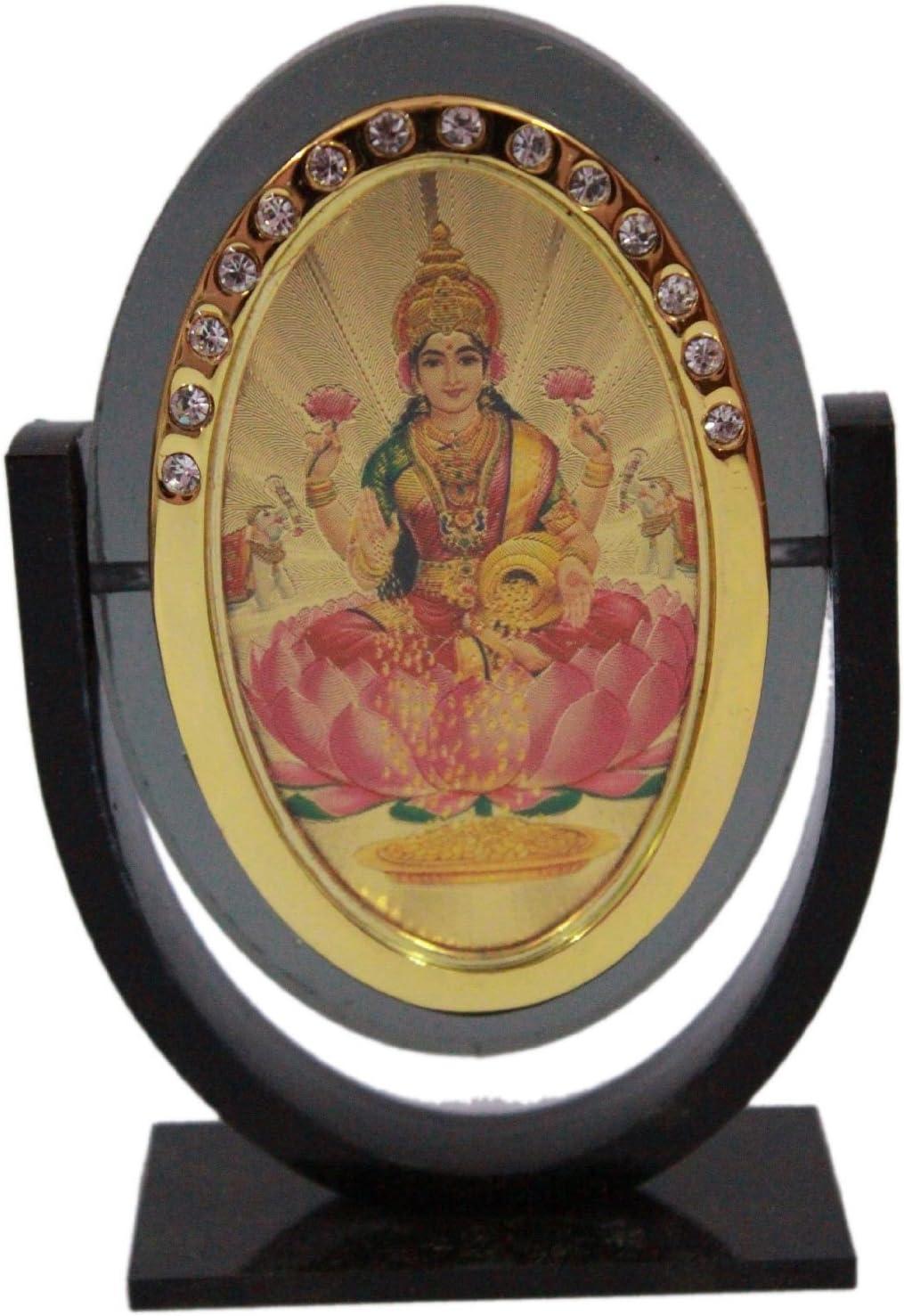 Odishabazaar Goddess Lakshmi Idol for Car Dashboard/Home/Office/Perfect Gift Item - 3 X 2.5 Inch