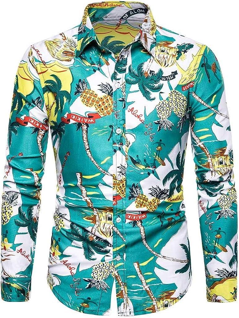 Innerternet-Camisa de Hombre, CX106 Camisa de Solapa de ...