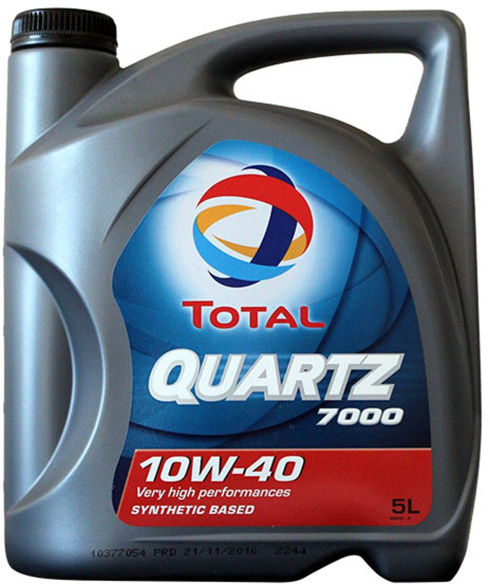 Total Quartz 7000 10W40 5 litros. Lubricante sintético desarrollado para todo tipo de motores gasolina o diesel de vehÃculo ligero en todos los tipos de ...