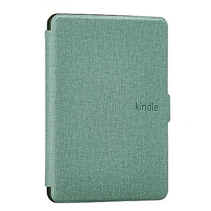 DATOUDATOU Kindle 8 E-Reader Caso PU Verde Cubierta de Silicona ...