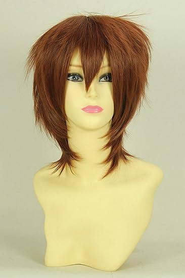 Rot braune kurze haare