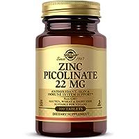 Solgar zink picolinate 22 Mg surfplattor, förpackning med 100