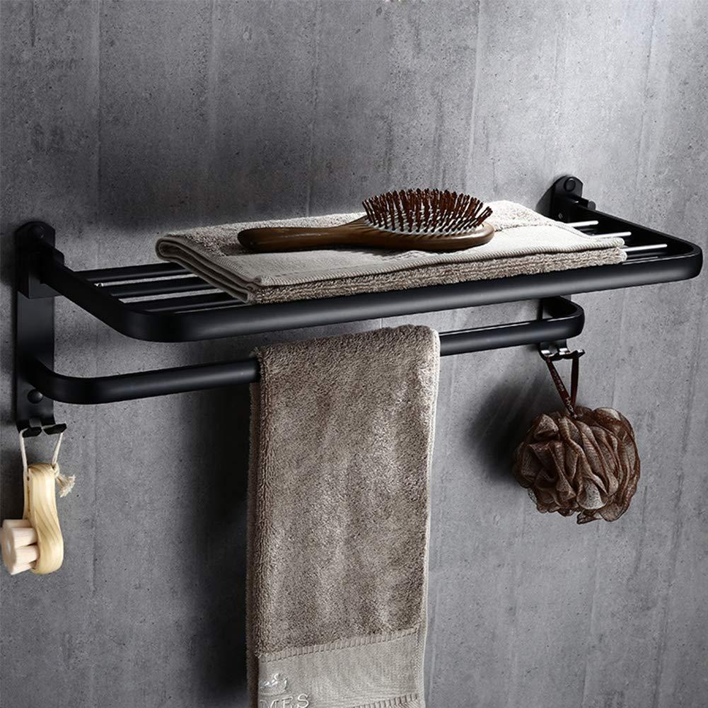 Raum Aluminium Handtuchhalter *WTTFF* H/änge-Handtuchhalter Handtuchhalter schwarz Hotel Bad-Accessoires