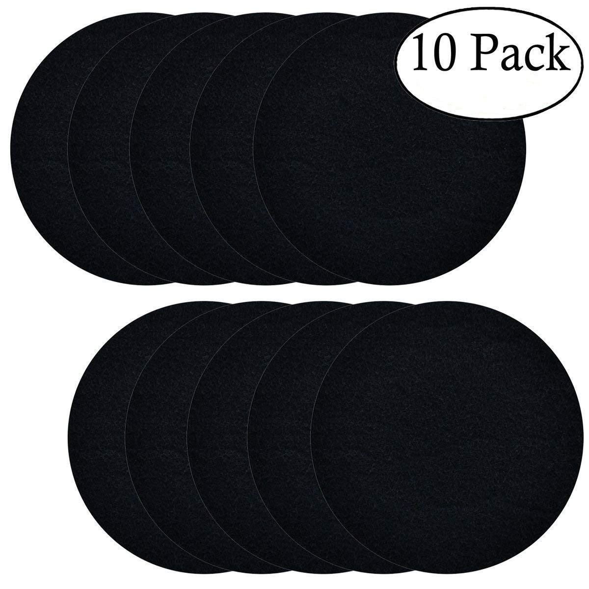 10 Pack Compost Bin Filters Activated Carbon Kitchen Compost Filters Replacement Filters, 7.25 inches Round KisSealed Compost Bins-10