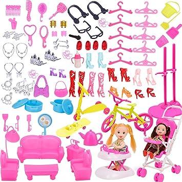 Amazon.es: WENTS Accesorios Barbie 108 Piezas Accesorios ...