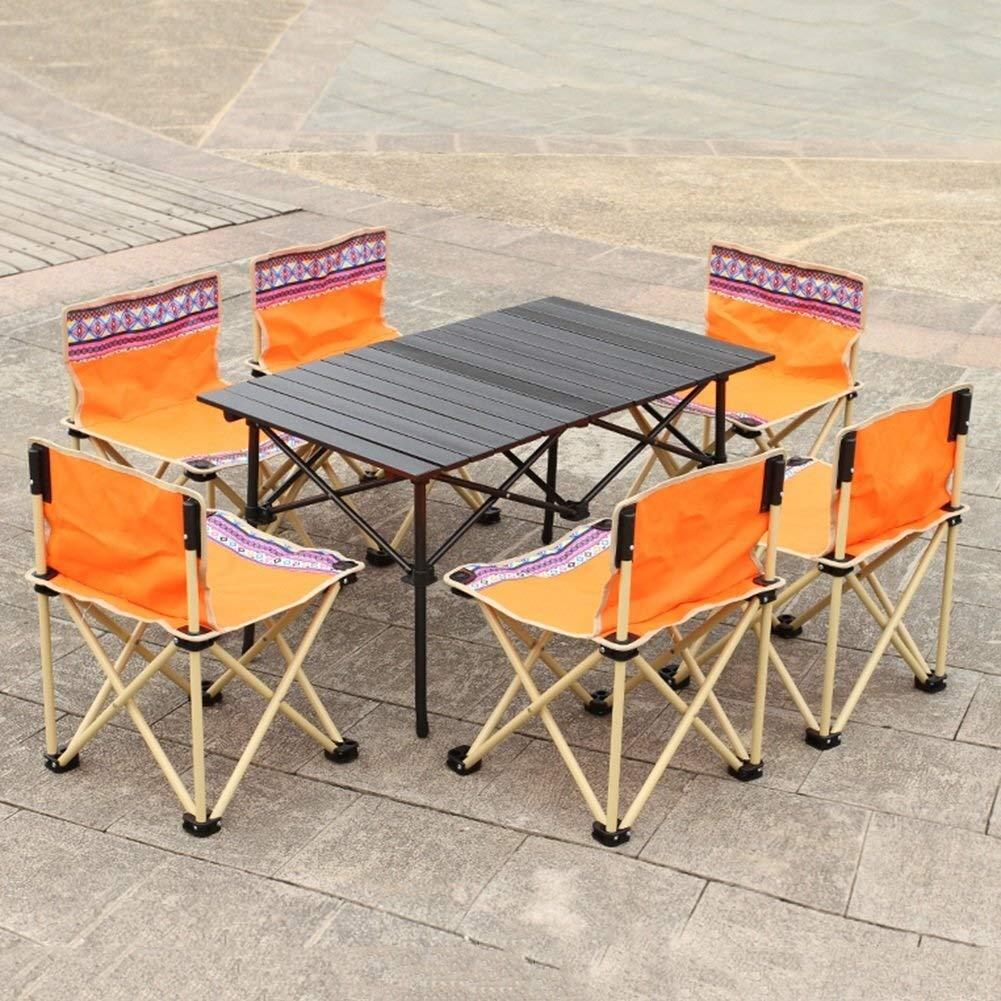 Alf Mesa y Silla de Camping Mesa Plegable portátil con 6 sillas ...
