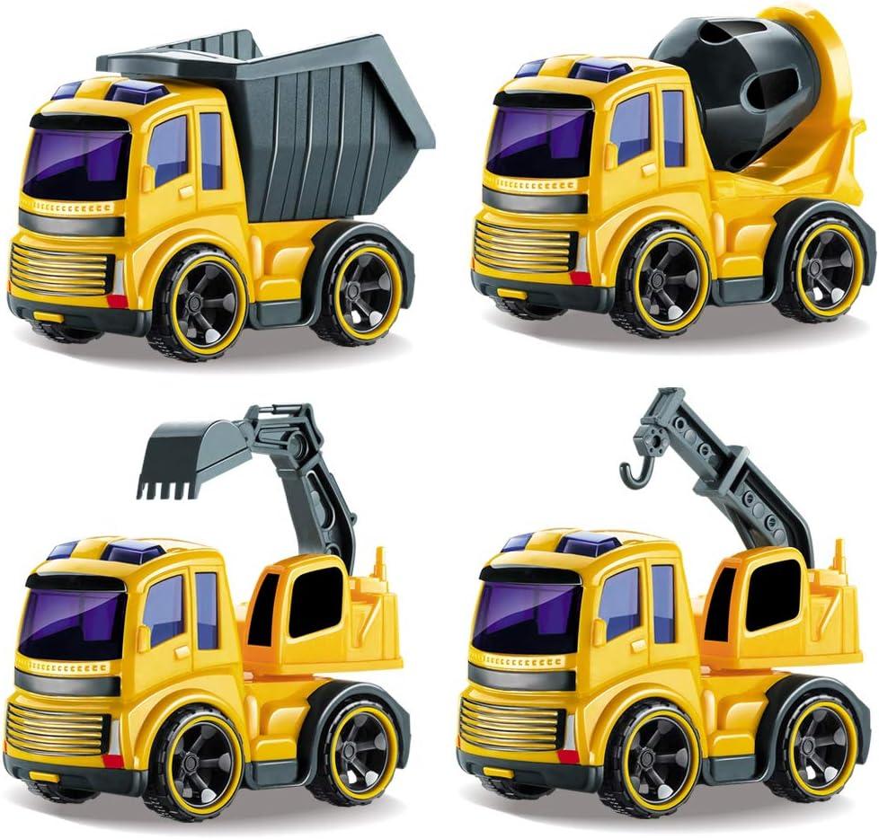 BeebeeRun Coche Juguete,Vehículos Construcción,Coches Camiones Juguetes 2 Años Niño