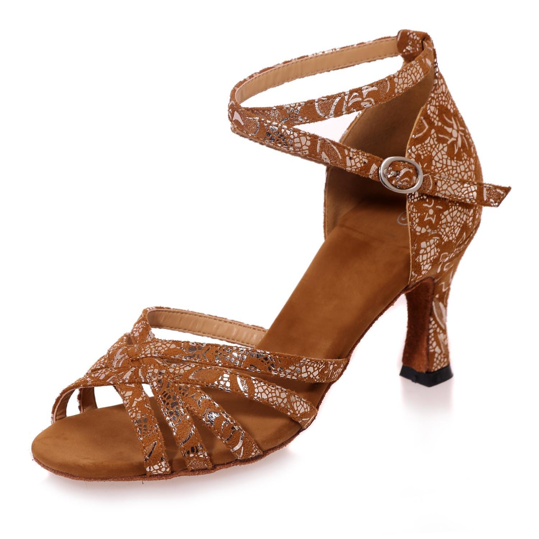Marron Chaussures De Danse Professionnelles des Femmes Peuvent êTre adaptéEs aux Besoins du Client Multi-Couleur De Grande Taille 35 EU