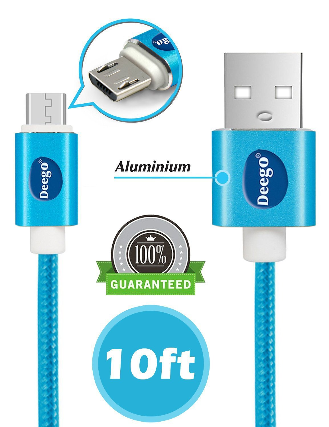 Amazon.com: Micro USB Cable Android Charger,[10ft]High Speed USB 2.0 ...