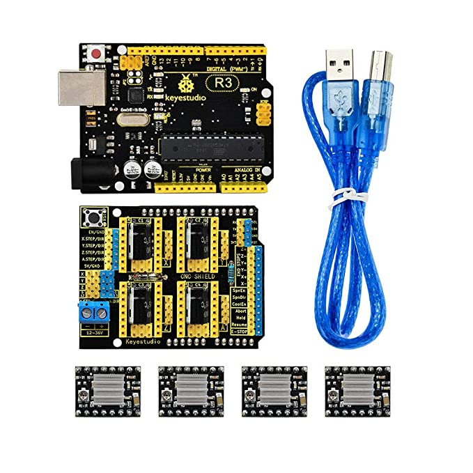 KEYESTUDIO kit de escudo CNC para máquina de grabado: Amazon ...