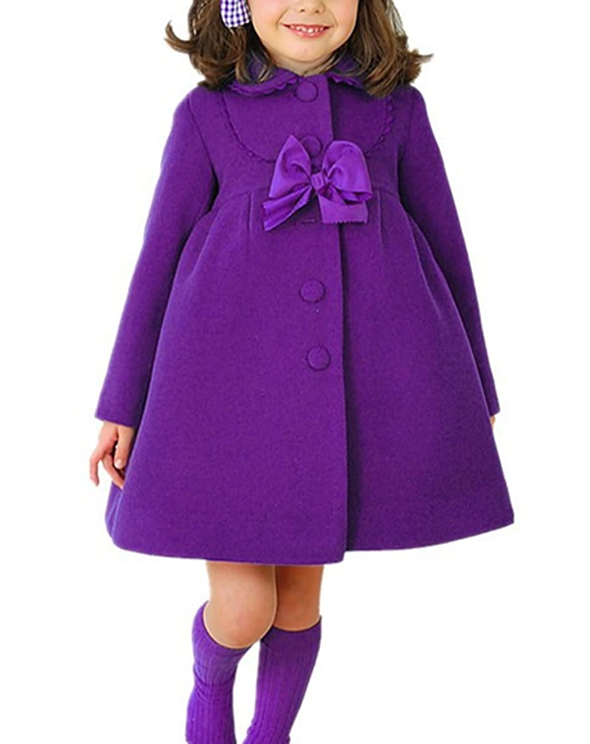 Ecolleciton/®/Kids Girls Winter Clothes Outerwear Long Trench Wind Coat Jacket