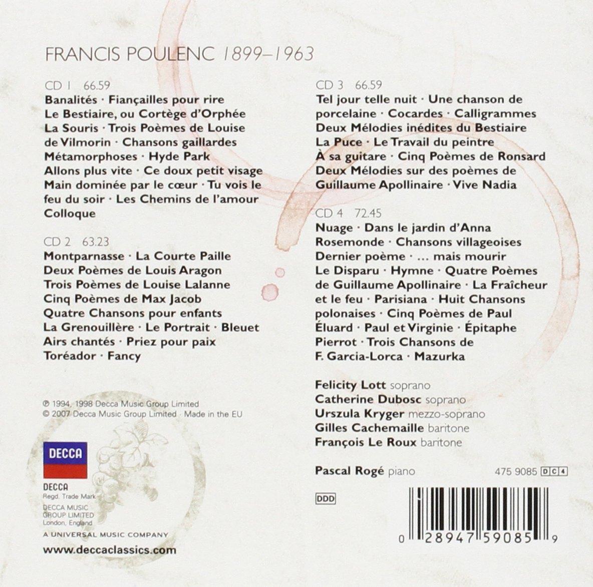 Poulenc Melodies