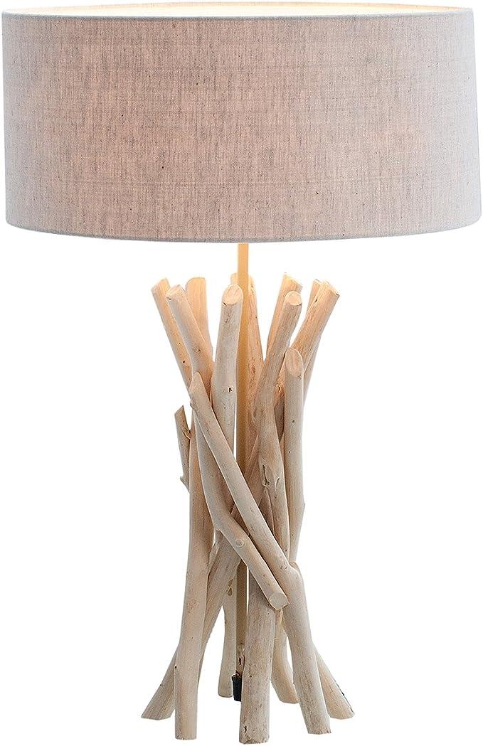 liquidation à chaud sur des coups de pieds de en présentant DuNord Design Lampe de Table Lampe de table bois flotté 62 ...