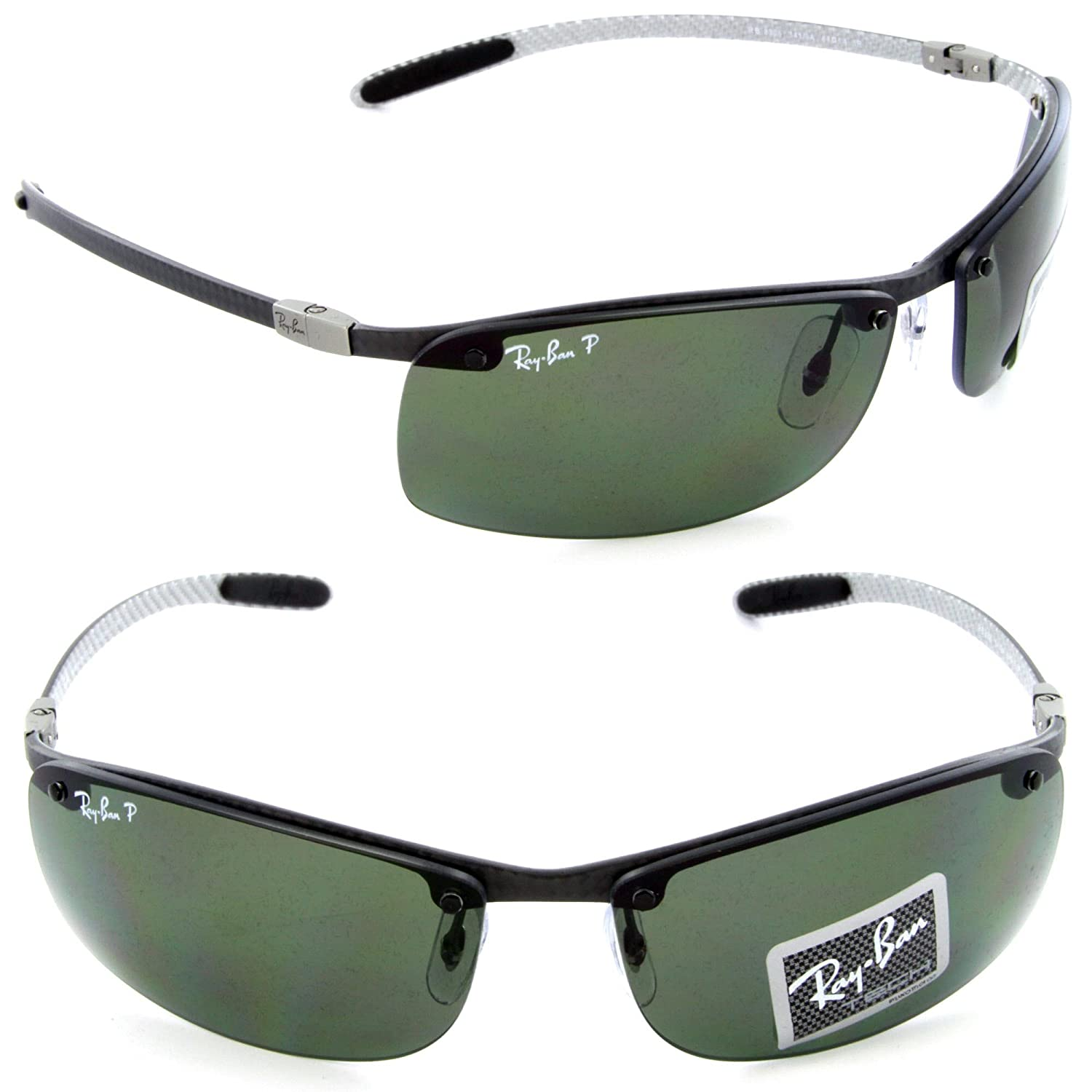102f71cdd97123 Ray-Ban Tech RB 8305 141 9A Light Carbon   Green Polarized Lens  Amazon.ca   Clothing   Accessories