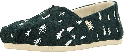 Toms Classic Spruce Felt Tree Mujeres Alpargatas Slipons Zapatos: Amazon.es: Zapatos y complementos