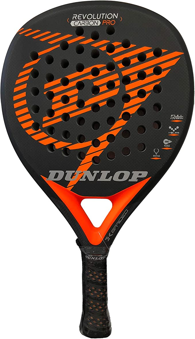 Dunlop Pala pádel Revolution Carbon Pro 2.0 Orange Rugosa: Amazon ...