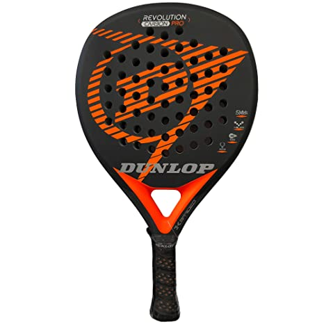 DUNLOP Pala pádel Revolution Carbon Pro 2.0 Orange Rugosa ...