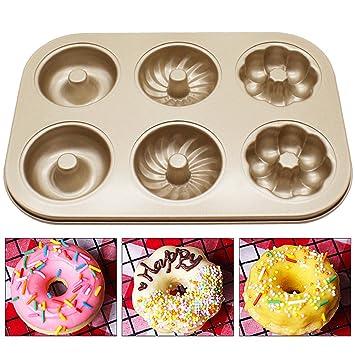 VANKER Molde para torta, molde de acero al carbono fácil de limpiar, moldes de forma específica_Donut: Amazon.es: Hogar