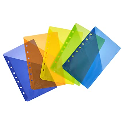 amazon com avery mini binder pockets assorted colors fits 3 ring